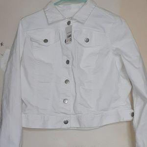 A white jean jacket.